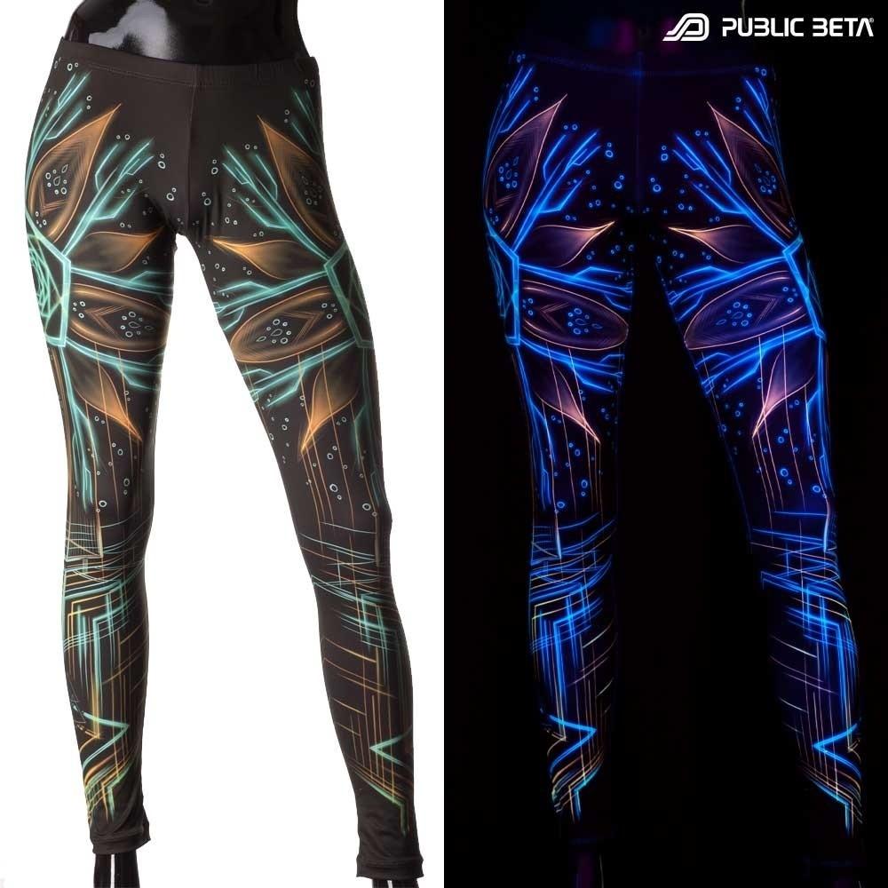 Neon Psychedelic Leggings / Multiverse UV D111