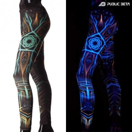 Neon Psychedelic Leggings / Multiverse UV D112