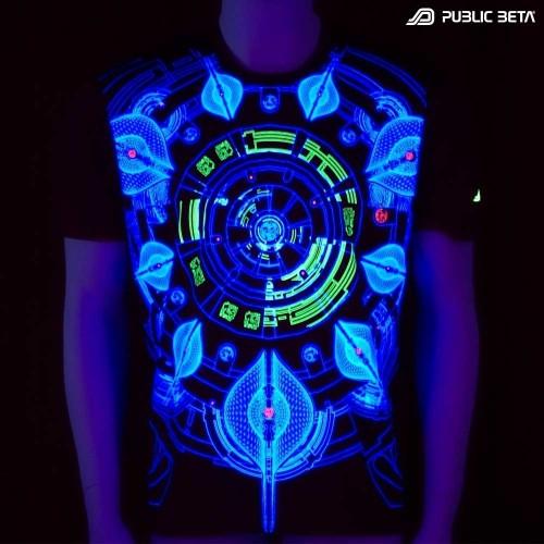 Neuron UV D52 - Psychedelic T-Shirt by Public Beta Wear