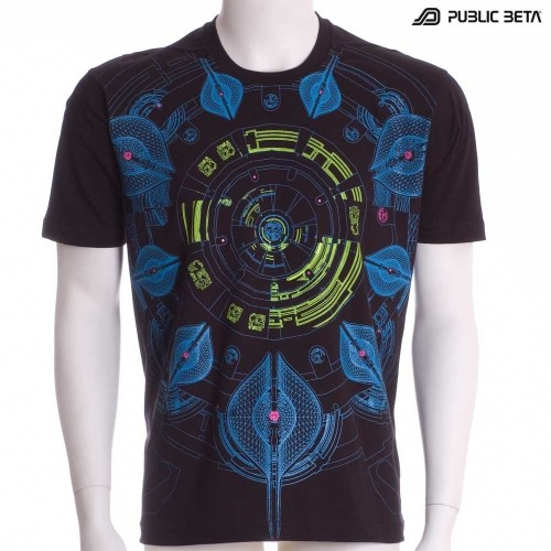Neuron UV D52 - Psychedelic T-Shirt by Public Beta Wear
