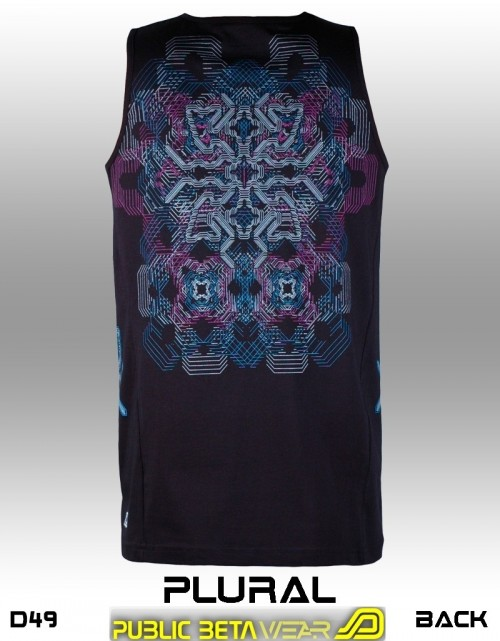 Plural UV D49 - Psychedelic Sleeveless Shirt by Public Beta Wear