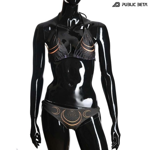 Digital Shiva UV D114 Bikini Set /Psychedelic Festival Wear