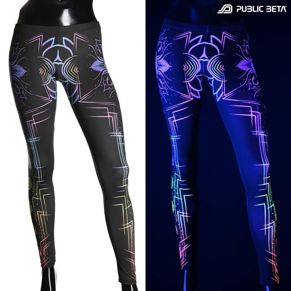 Chakra Power D112 Blacklight Art Printed Leggings