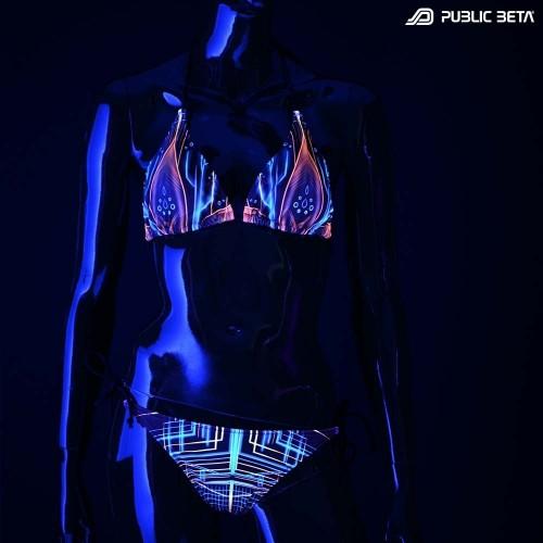 Multiverse UV D111 Bikini Set /Psychedelic Festival Wear