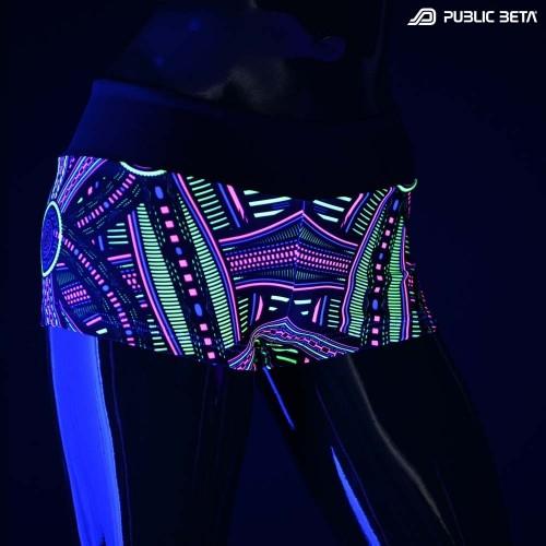 Perplexed UV D101 Shorts M2 / Glow in Blacklight Print