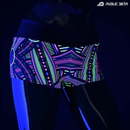 Perplexed UV D101 Shorts M2 / Glow in Blacklight Print