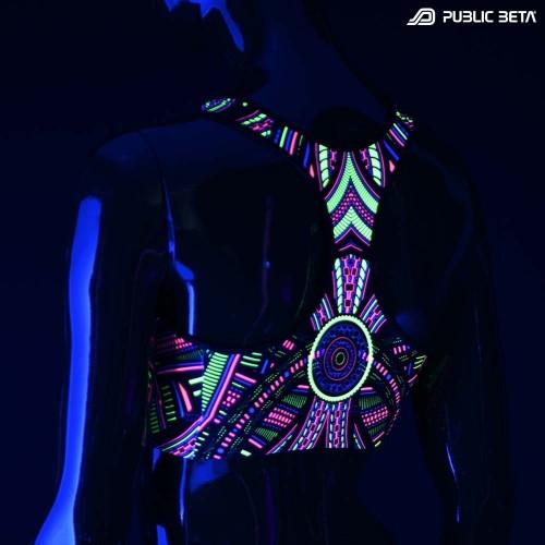 Perplexed  UV D101 Active Top / Psychedelic Yoga Wear