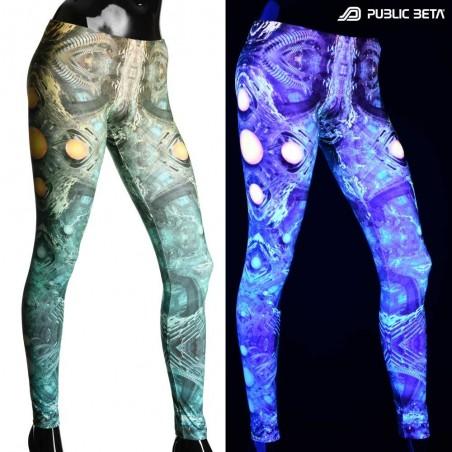 Psychedelic Glow in Blacklight Leggings /MMKRI D117