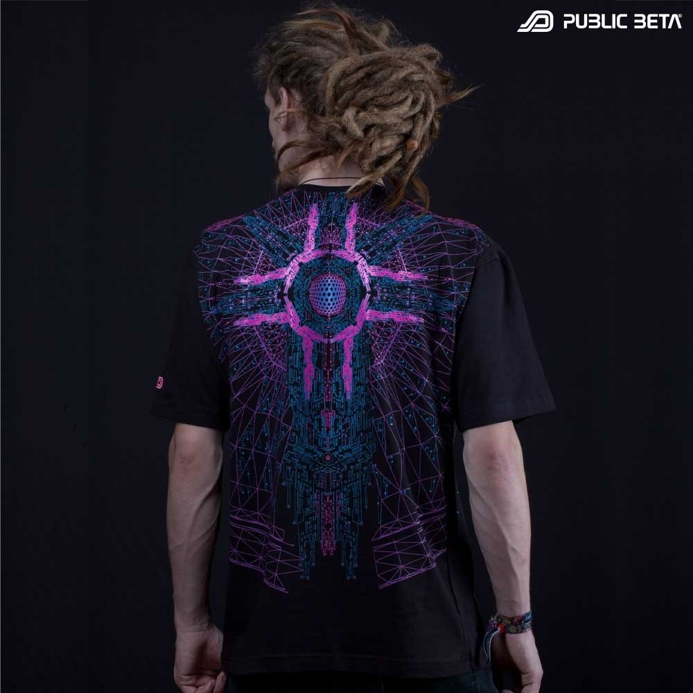 Psychedelic Glow in Blacklight T-shirt / Cyberdrome UV D34