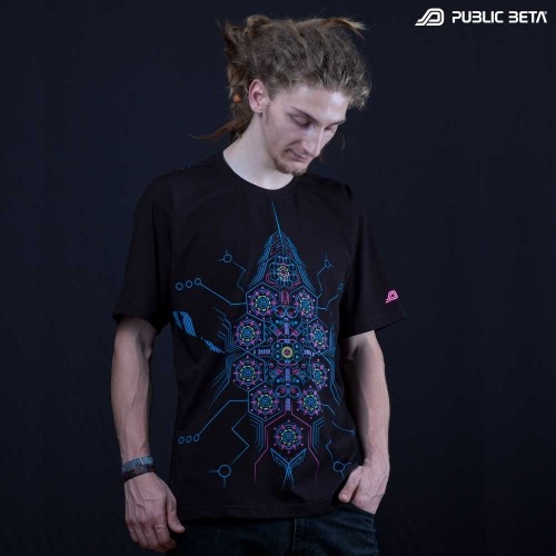 Psychedelic Blacklight Active T-Shirt - DeBug UV D95
