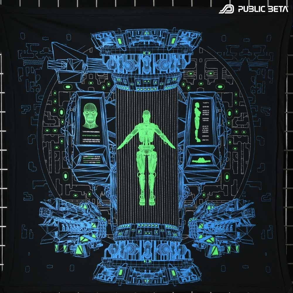 Replikator UV D116 Cotton Wallhanging Futuristic Blacklight Art Print