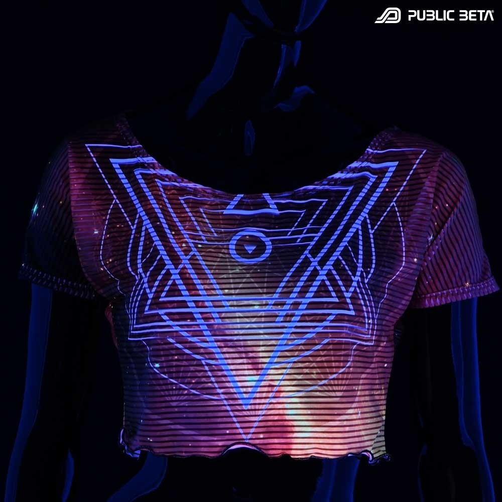 Glow in Blacklight Crop Top Secret /SG23 D105