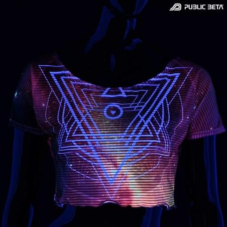 Glow in Blacklight Crop Top Secret /SG23 D105
