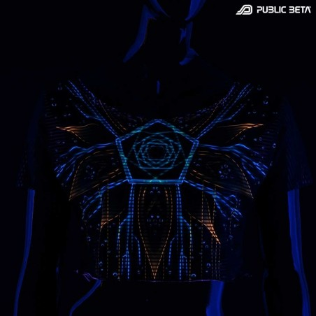 Blacklight Reactive Crop Top Secret /Multiverse D111