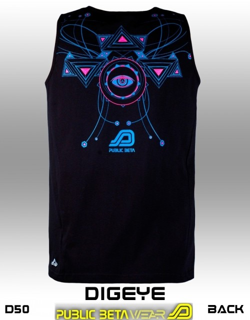 DigEye UV D50 - Psychedelic Sleeveless Shirt by Public Beta Wear