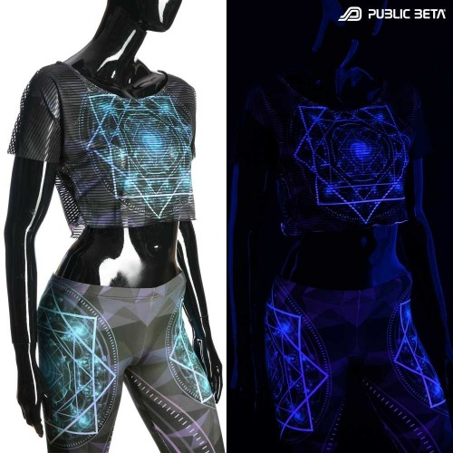 UV Active Crop Top Secret /Geocycle D110