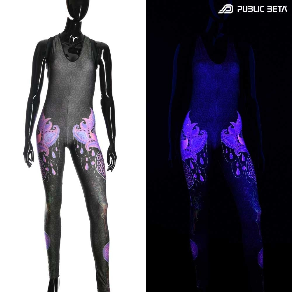 Blacklight Active  Jumpsuit / Lotus 23UV D109 / Costume