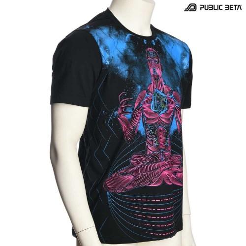 Psytrance T-shirt / Blacklight Active T-Shirt / Necromancer UV D113