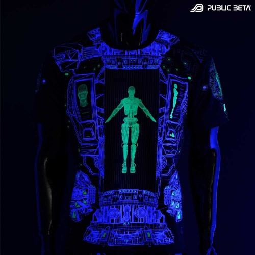 Psychedelic UV Active T-shirt / Full Print / Replikator UV D116