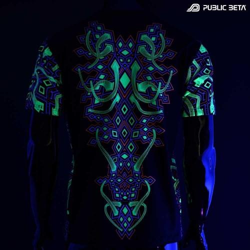 Psychedelic UV T-shirt / Full Print / Rhombus UV D104