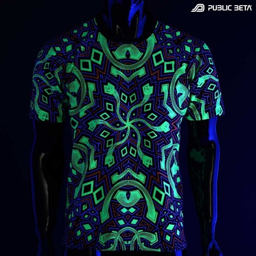 Psychedelic UV T-shirt / Full Print / Rhombus UV D104
