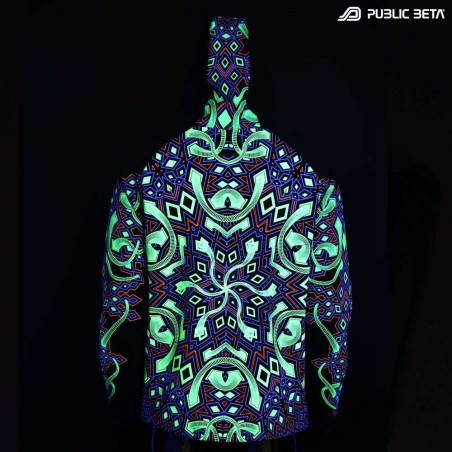 Psychedelic Blacklight Active Hooded Sweater