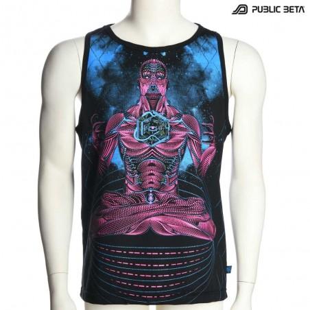 Blacklight Active Psychedelic Sleeveless Shirt / Psywear