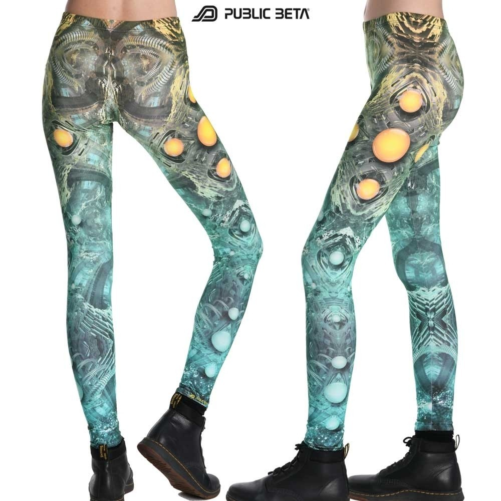 Psychedelic Glow in Blacklight Leggings /MMKRI D117