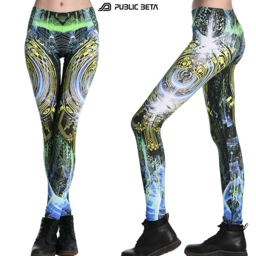 CodeBraker D103 Glow in UV Light Leggings