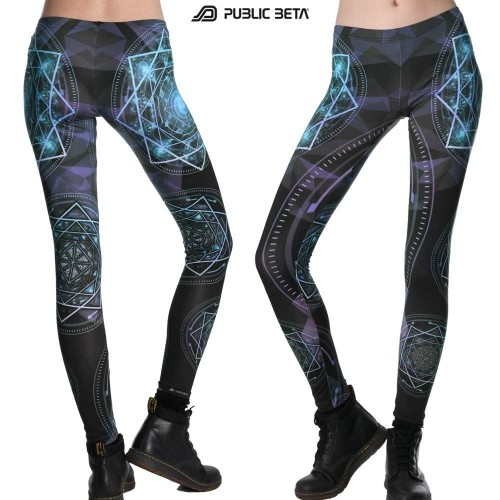 Glow in Blacklight Leggings / Geocycle D110