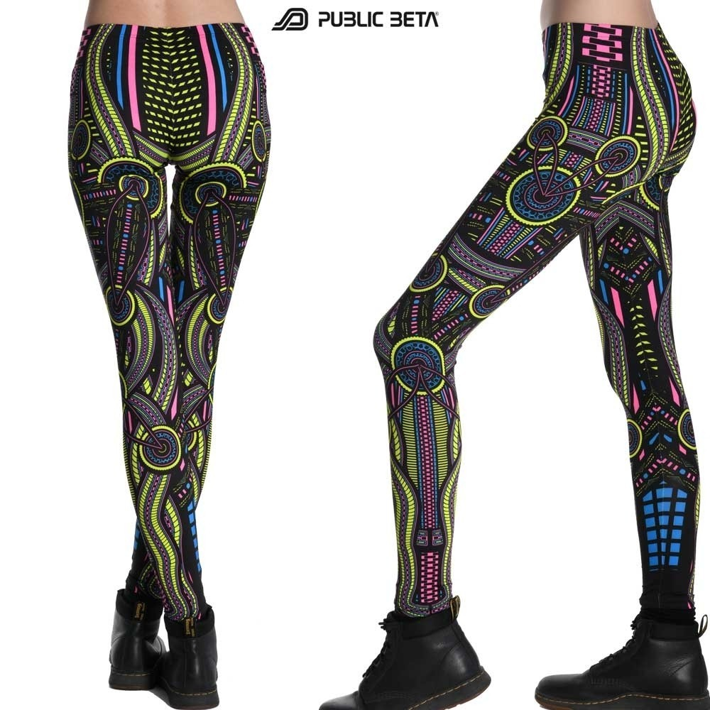 Perplexed D101 Psychedelic Blacklight Reactive Psychedelic Leggings