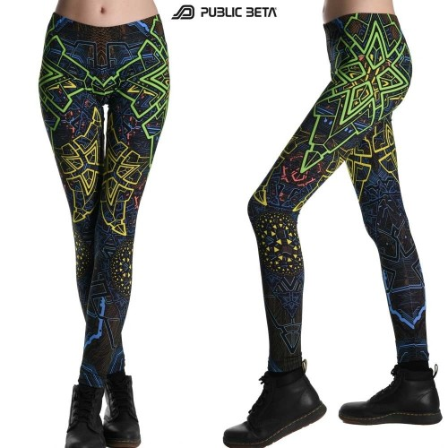 Blacklight Active Leggings / Alternative Fashion