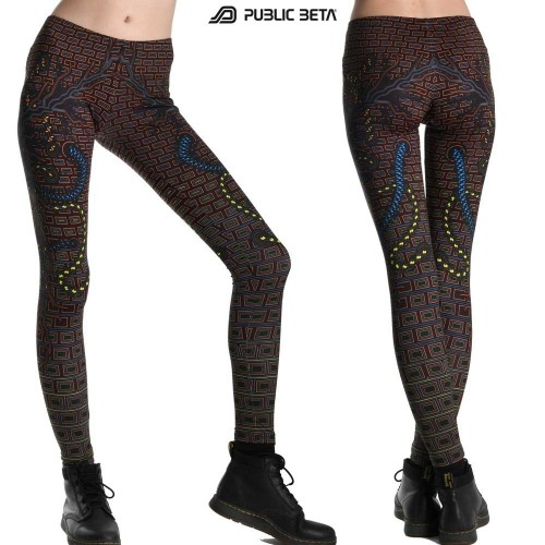 Connected UV Reactive Leggings/ Partywear