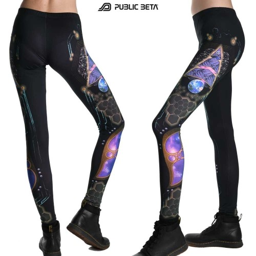 Spyramide UV Active Leggings by Public Beta Wear