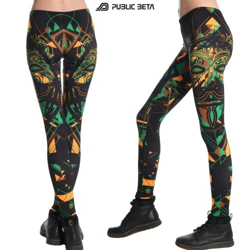 Maskal UV Reactive Leggings / Alternative  Underground Fashion