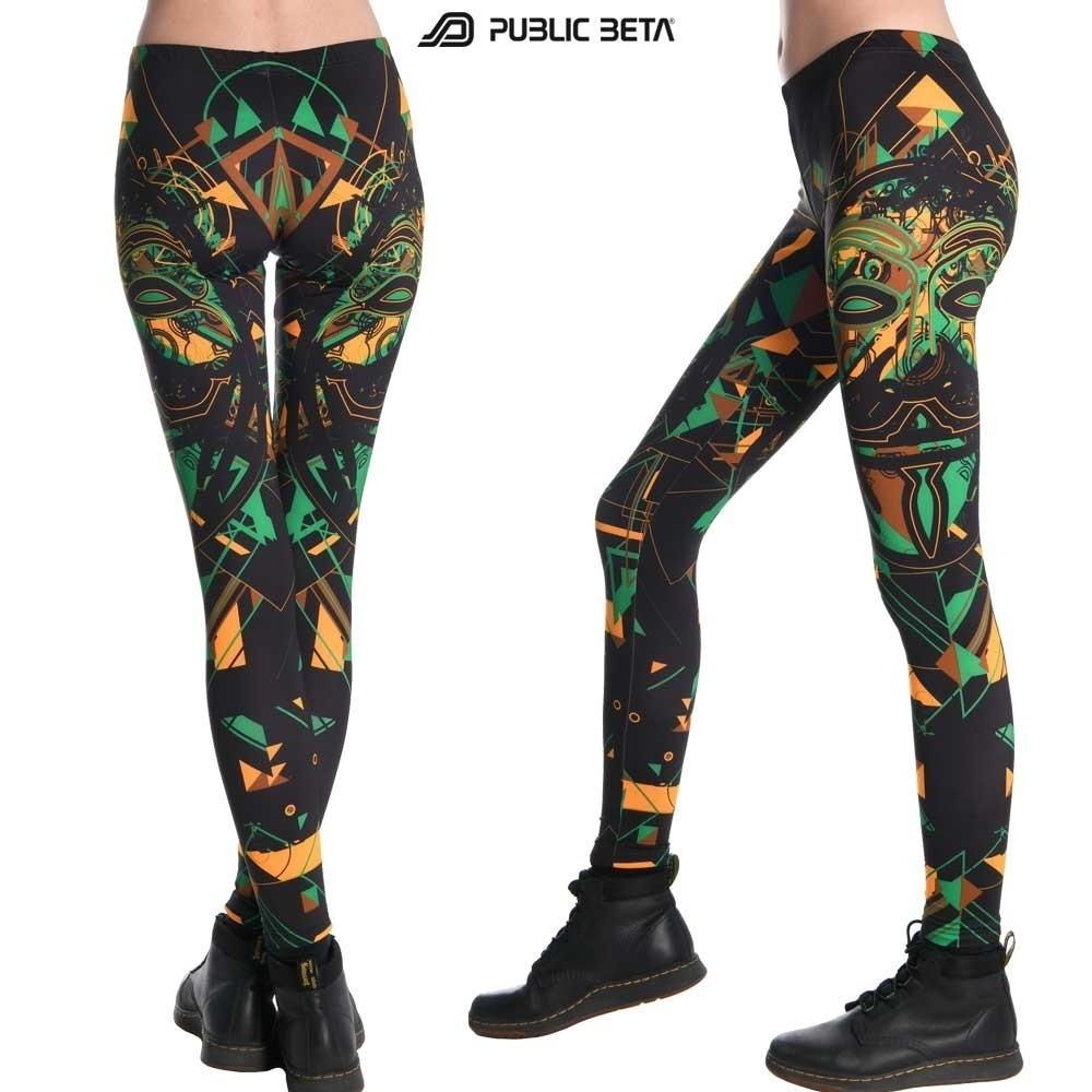 Maskal UV Reactive Leggings / Alternative  Underground Fashion