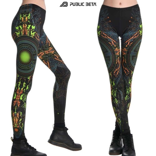 Trancemitter UV D48 - Leggings by Public Beta Wear