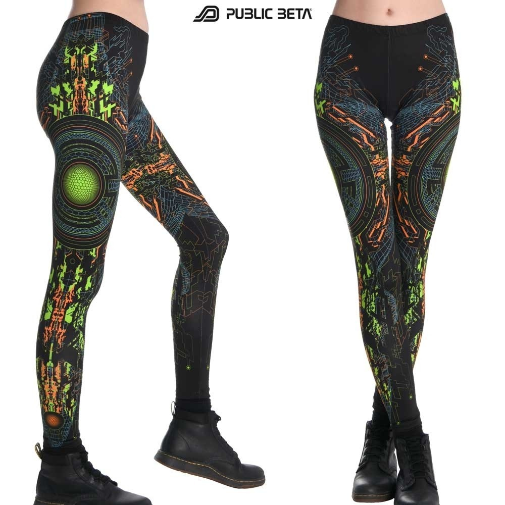 UV Reactive Printed Leggings