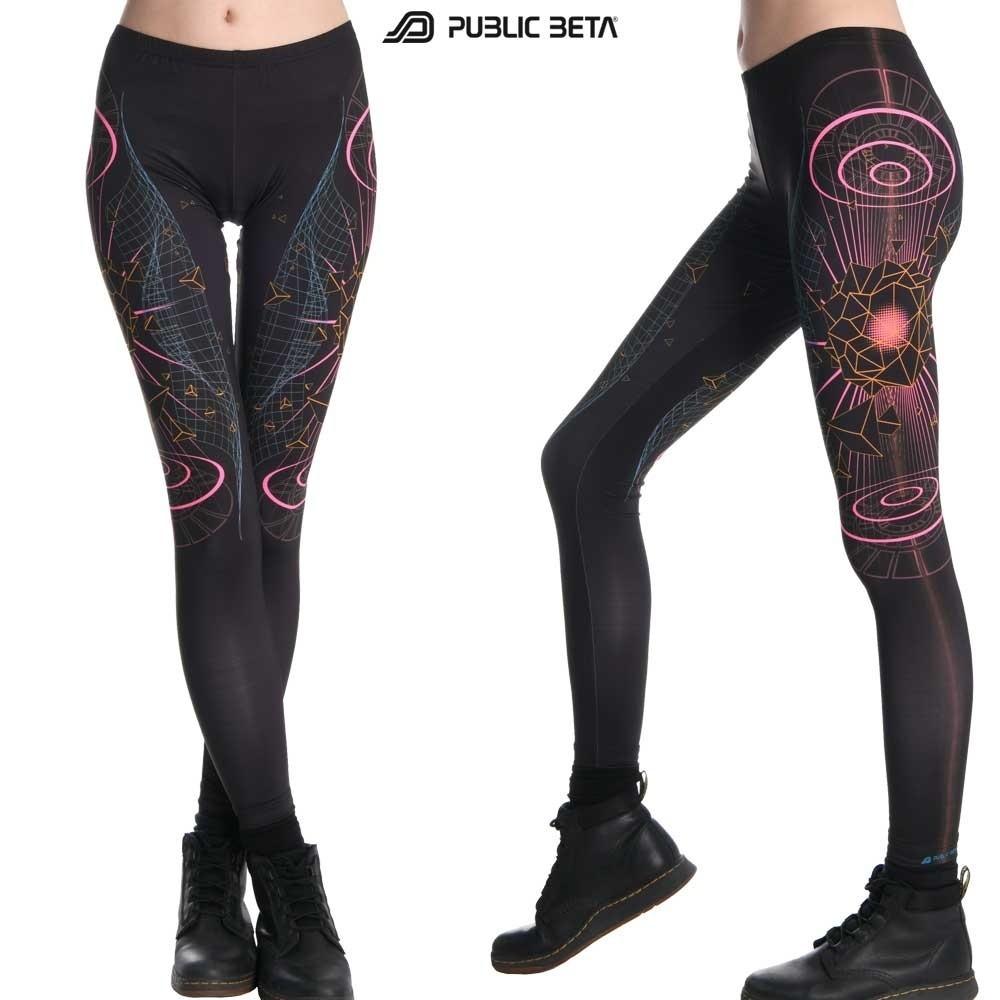 Hologram UV D66 - Leggings by Public Beta Wear