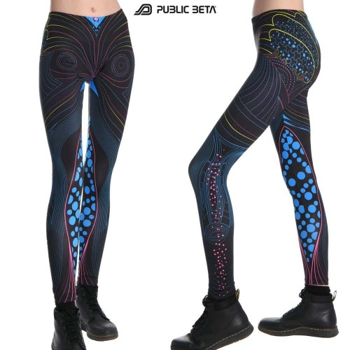Heartbeat UV D69 - Leggings by Public Beta Wear