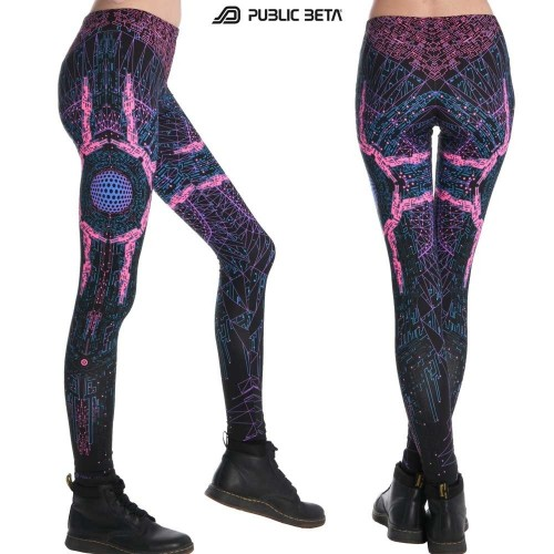 Cyberdrome UV D34 - Leggings by Public Beta Wear