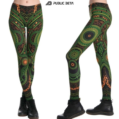 Glow in Blacklight Women Fashion / UV Active Leggings