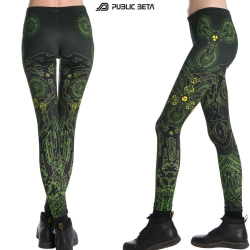 Radioactive UV D31 Leggings by Public Beta Wear