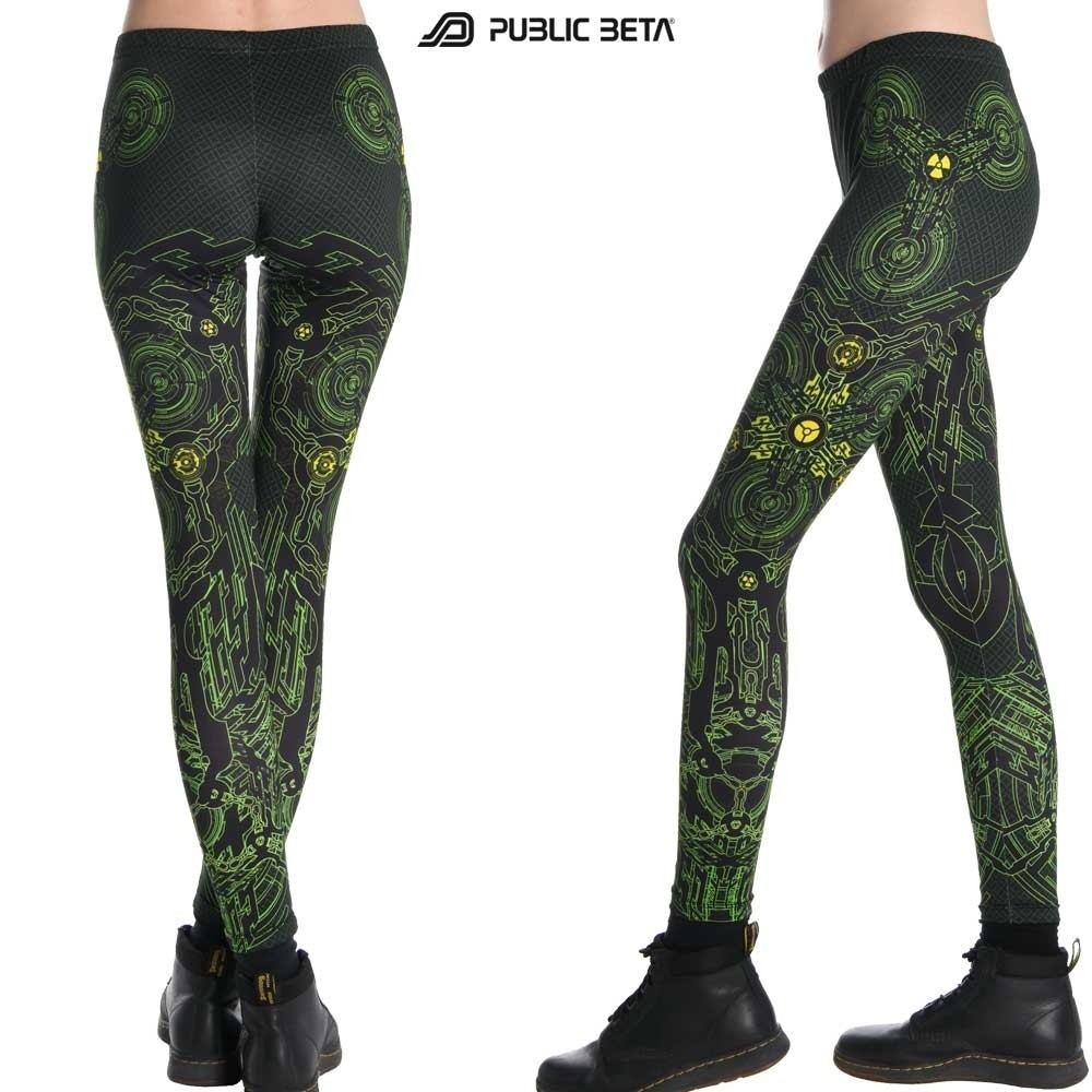 Radioactive UV D31 Leggings by Public Beta Wear
