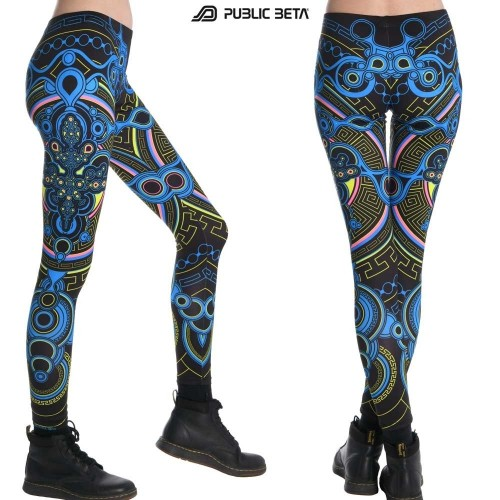 Archaic Trip UV D12 Leggings by Public Beta Wear