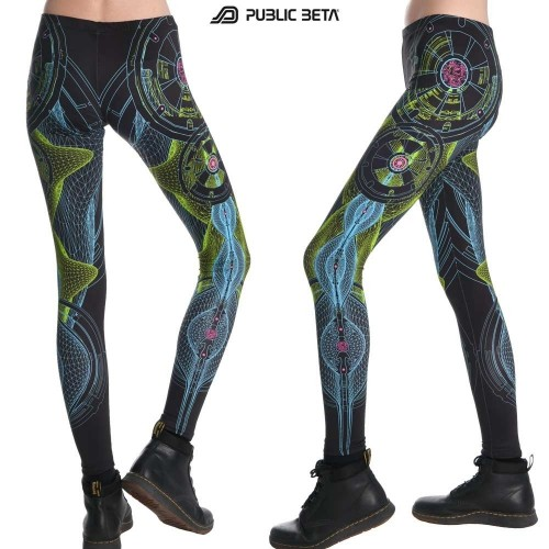 Neuron UV D52 Neon Glow Leggings