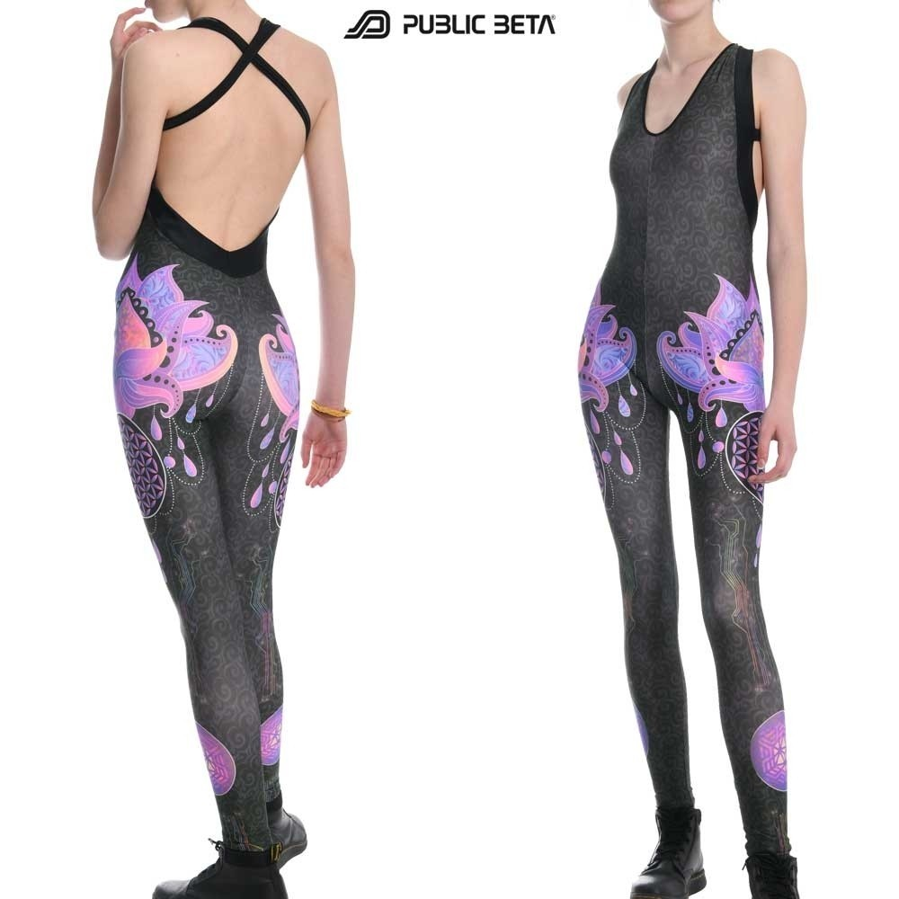 Blacklight Active  Jumpsuit / Lotus UV D23 / Costume