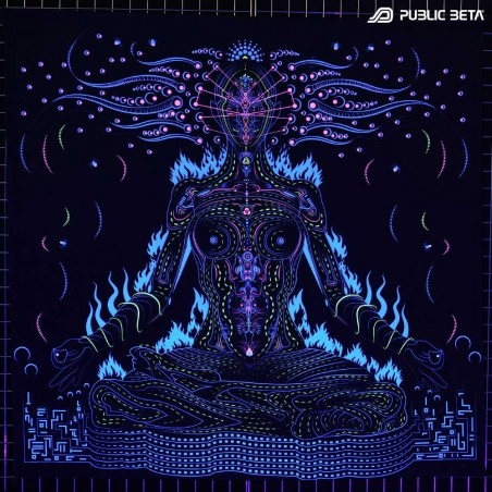 Chakras D99 Blacklight Active Tapestry