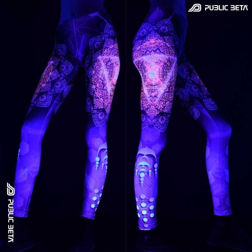 Glow in Blacklight Leggings / TechnoLog D128
