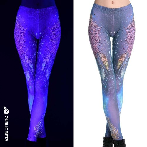 Glow D130 UV Reactive Printed Leggings